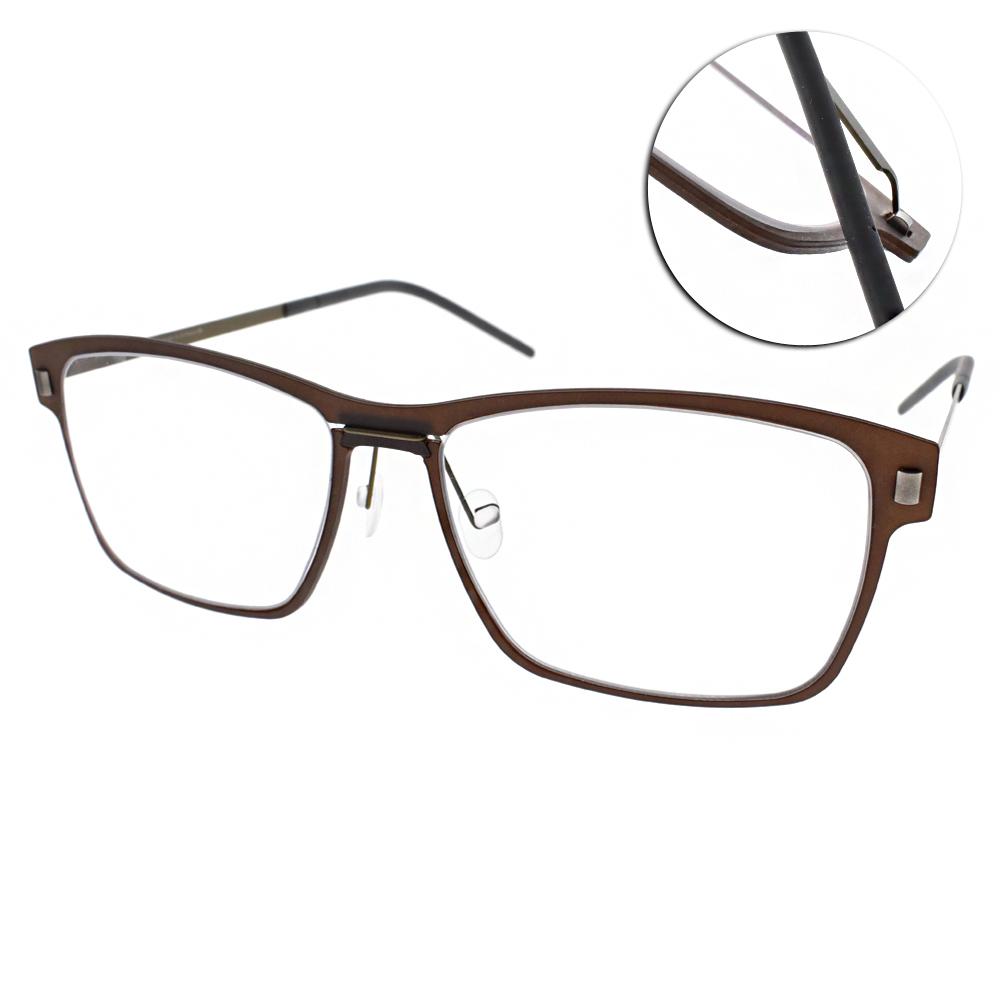 MARKUS T眼鏡 無螺絲眼鏡結構/棕#M1 066 525-174