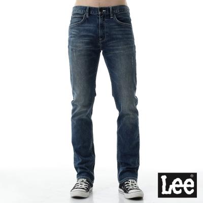 Lee 牛仔褲 724中腰標準小直筒牛仔褲- 男款-深藍