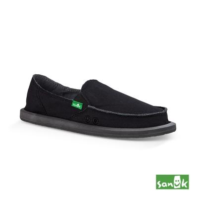 SANUK 基本款素面懶人鞋-女款(黑色)