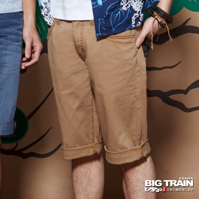 BIG TRAIN 粗針卡其短褲-男-卡其