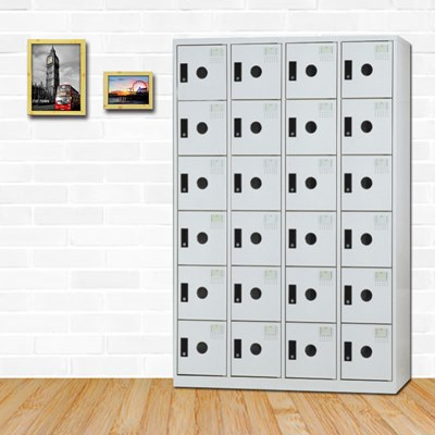 時尚屋 諾爾伯多用途塑鋼製24格置物櫃 寬119x深35x高180cm