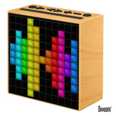 DIVOOM TimeBox 智能LED音樂鬧鐘(藍牙喇叭)-優雅木