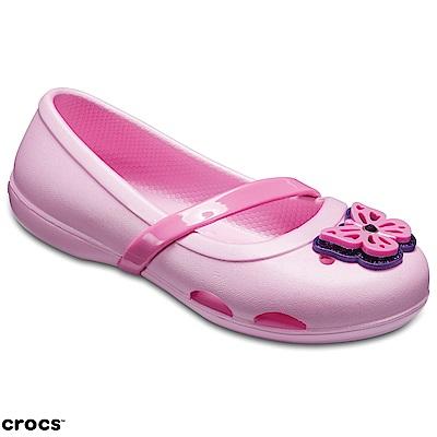 Crocs 卡駱馳 (童鞋) 莉娜小平底童鞋 205040-6I2