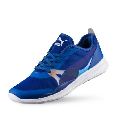 PUMA DuplexIrridCore女性復古慢跑運動鞋-真實藍