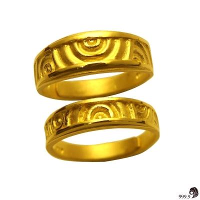 歷代風華-悸動的愛黃金對戒(約 2 . 62 錢)