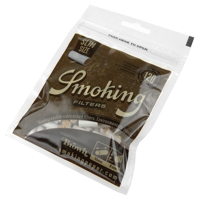 Smoking 西班牙進口-Brown-未漂白捲煙專用環保濾嘴-6mm*2包