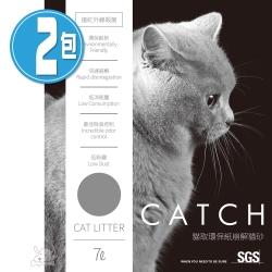 CATCH 貓取 環保崩解型紙砂/貓砂 7L(2.5kg)X 2包