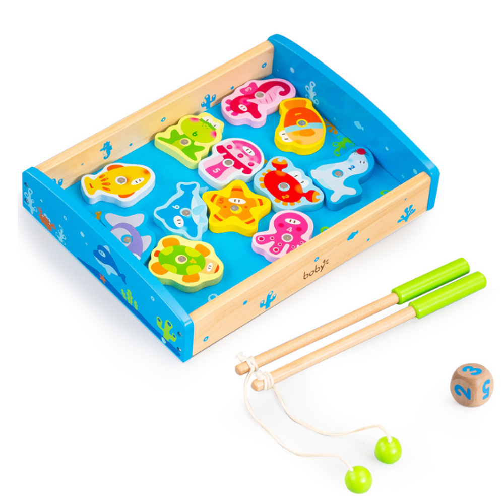 boby波比木質盒裝釣魚遊戲組3Y
