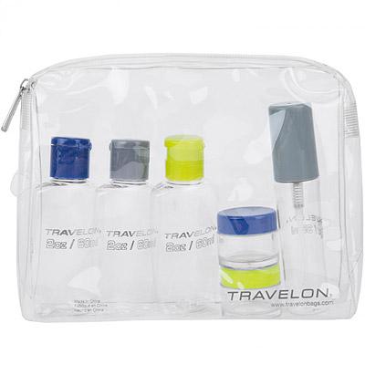 TRAVELON 三色旅行分裝瓶罐組(6入)
