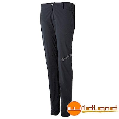 Wildland 荒野 0A52311-95鐵灰色 女彈性防潑防風天鵝絨褲