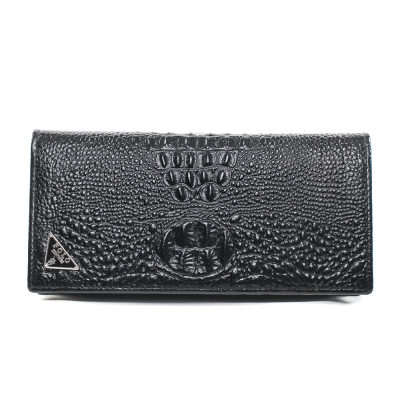 XINWEI POLO 英式設計質感鱷魚壓紋小牛皮長夾-86343-C