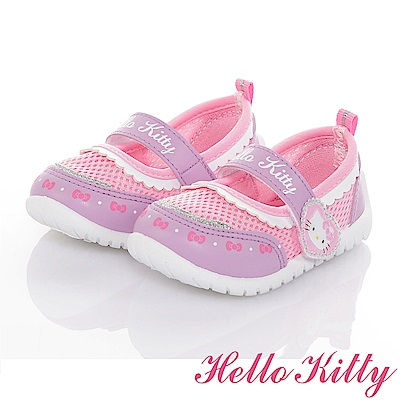 HelloKitty 輕量透氣抗菌防臭室內外娃娃童鞋-紫粉