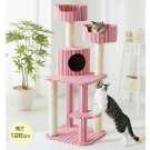 寵喵樂 夏日粉色貓咪貓跳台 AM503