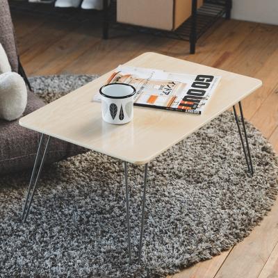(買一送一)Home Feeling 摺疊邊桌/和室桌/淺原木-60x40x31cm