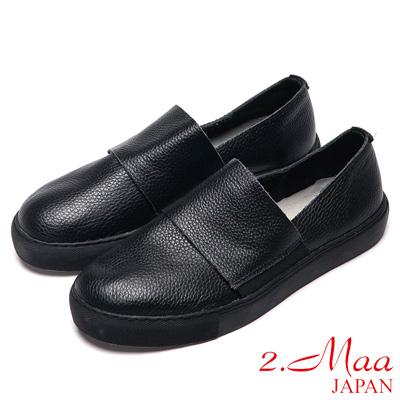 2.Maa真皮系列-英倫造型感牛皮樂福鞋-黑