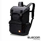 ELECOM 大容量防撥水後背包-黑