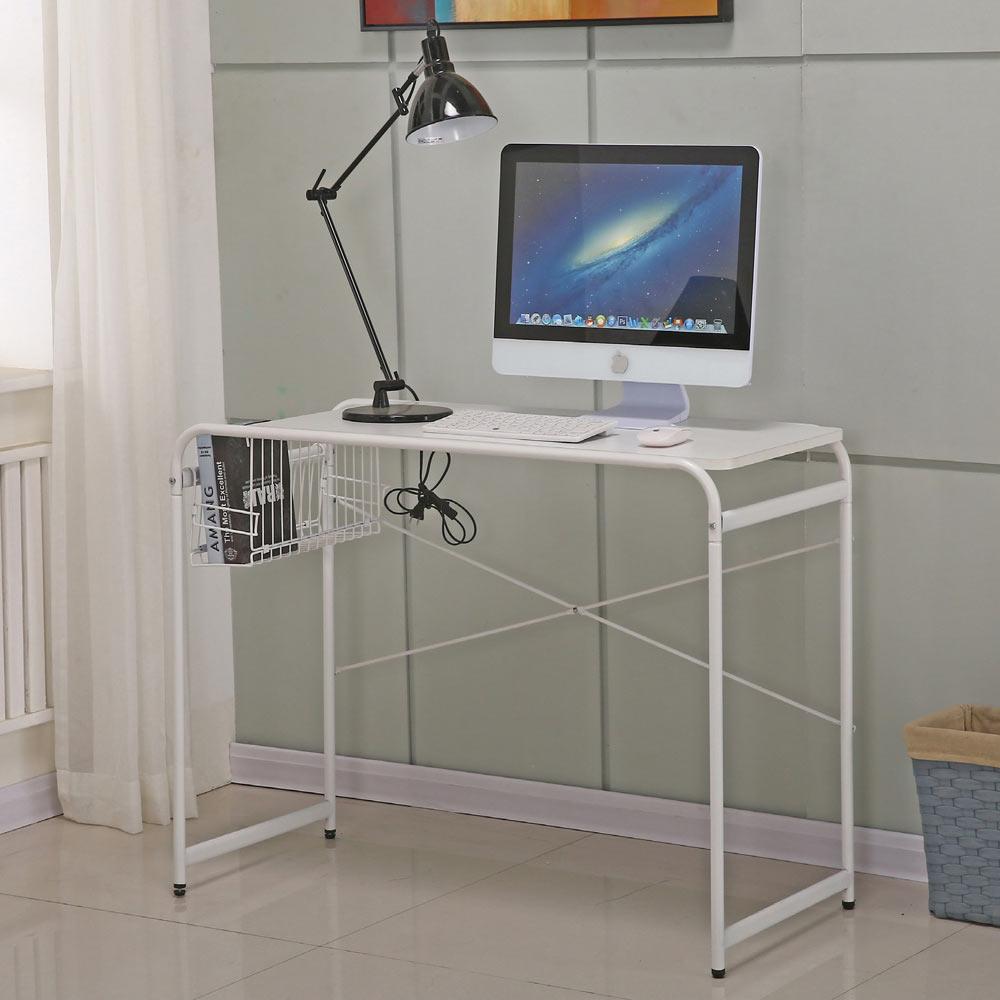 AT HOME - 米蘭3.3尺白色書桌 100x44x76cm