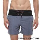 P.S 時尚玩色抽繩海灘健身兩用短褲(灰色),Private Structure