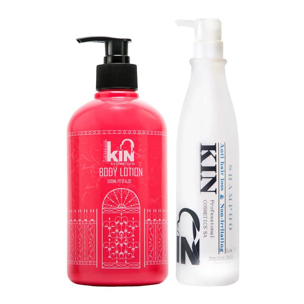 KIN卡碧絲 買還原酸蛋白深層健髮洗髮精250ml送水漾馨肌身體乳500ml
