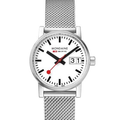 MONDAINE 瑞士國鐵 evo2 時光走廊腕錶-白/30mm