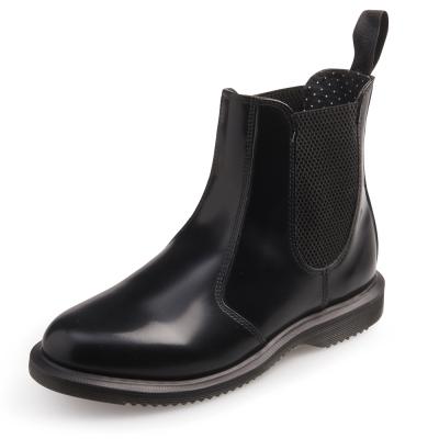 Dr.Martens FLORA-英式尖楦側邊鬆緊短靴-女款-黑