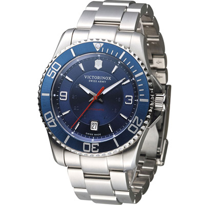 Victorinox Maverick 維氏野戰部隊大三針腕錶-藍/43mm