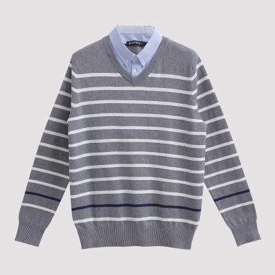 Hang Ten - 男裝 - 假兩件牛津襯衫毛衣 - 灰