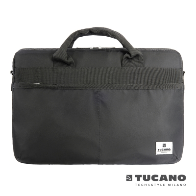 TUCANO Shine slim 薄型輕便手提肩背二用電腦包MB 15吋- 黑