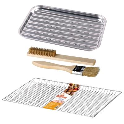 點秋香 BBQ兩用燒烤組(不鏽鋼小烤盤+不鏽鋼防落烤網+兩用燒烤組)