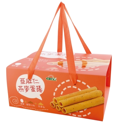 統一生機 亞麻仁燕麥蛋捲禮盒(456g)