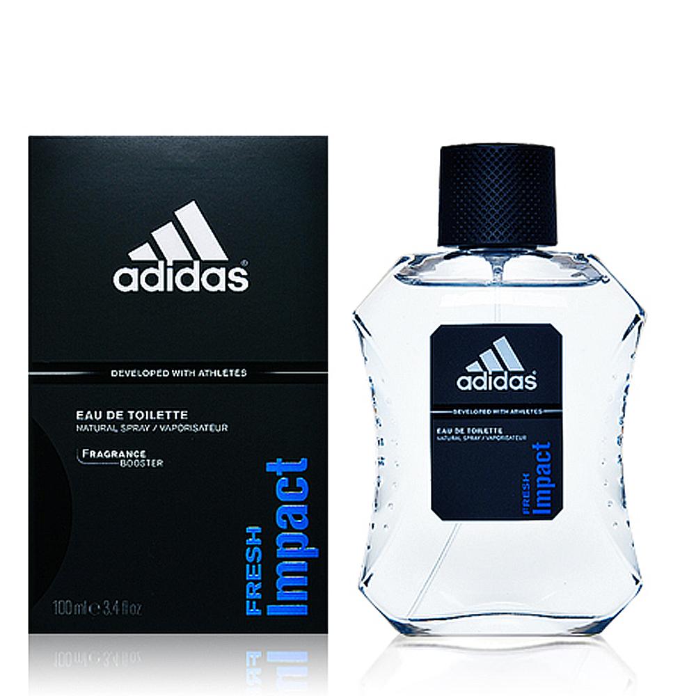 Adidas 愛迪達 Fresh Impact 沁涼酷勁男性淡香水100ml