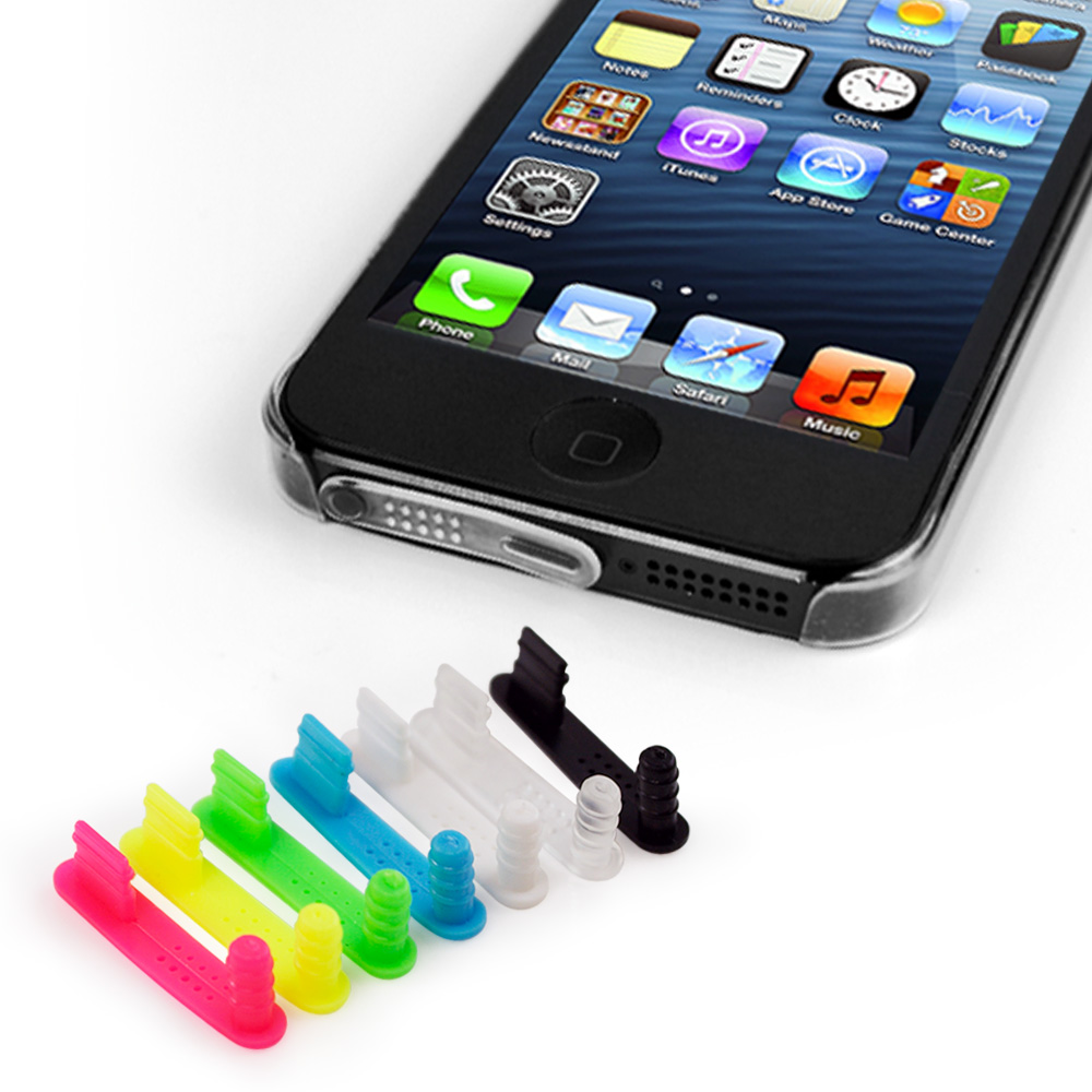 iPhone5 專用 矽膠防塵塞組-7入/組