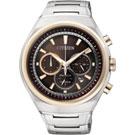 CITIZEN ECO-Drive 鈦金屬三眼計時腕錶(CA4025-51W)-42mm