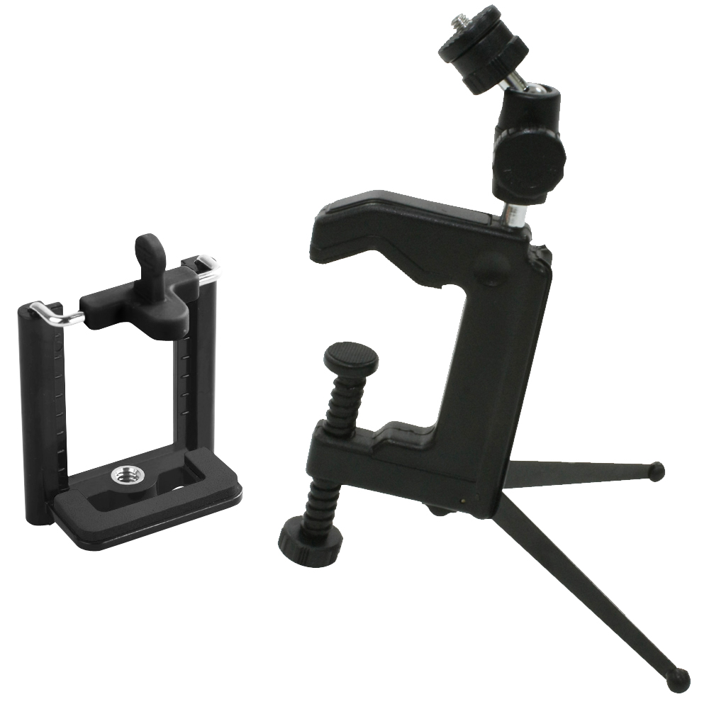 [快]Kamera 多功能桌上夾型腳架+萬用夾(超值組)