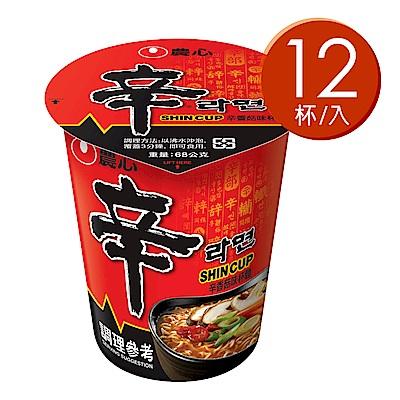 農心 辛香菇味杯麵(68gx12入)