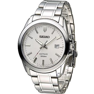 SEIKO 紳士品味時尚錶(7N42-0GD0S)白/41mm