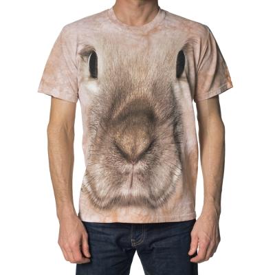 摩達客-美國進口The Mountain小兔臉 純棉環保短袖T恤