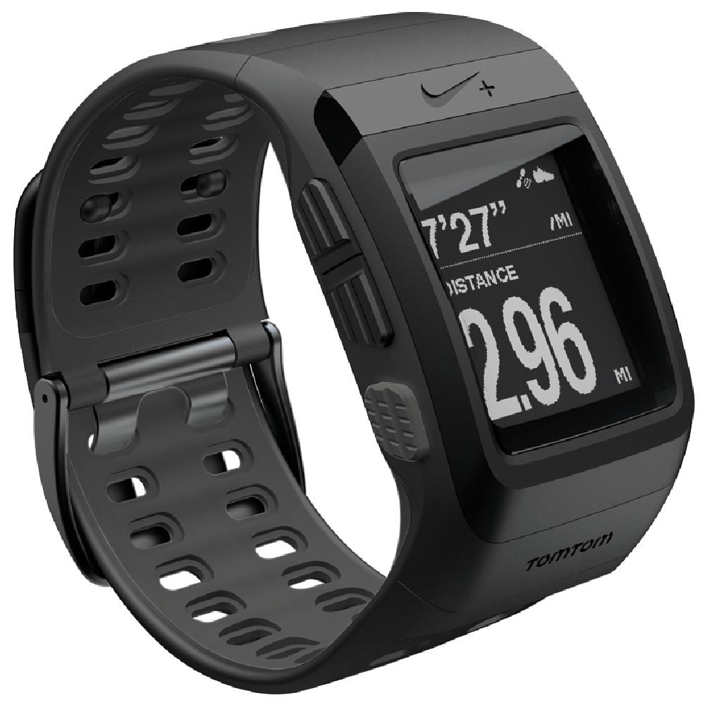 NIKE+ SPORTWATCH GPS軌跡記錄運動手錶 - 黑 / 黑灰