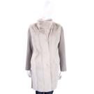 GRANDI furs 灰白色針織拼接皮草外套(70%WOOL)