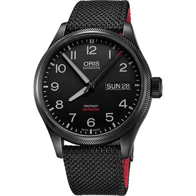 Oris Air Racing Edition V 飛行賽紀念限量錶-黑/45mm