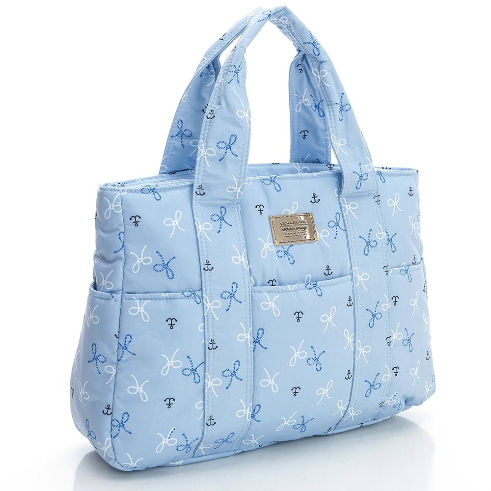VOVAROVA空氣包-經典系列-大托特包-淺藍蝴蝶結
