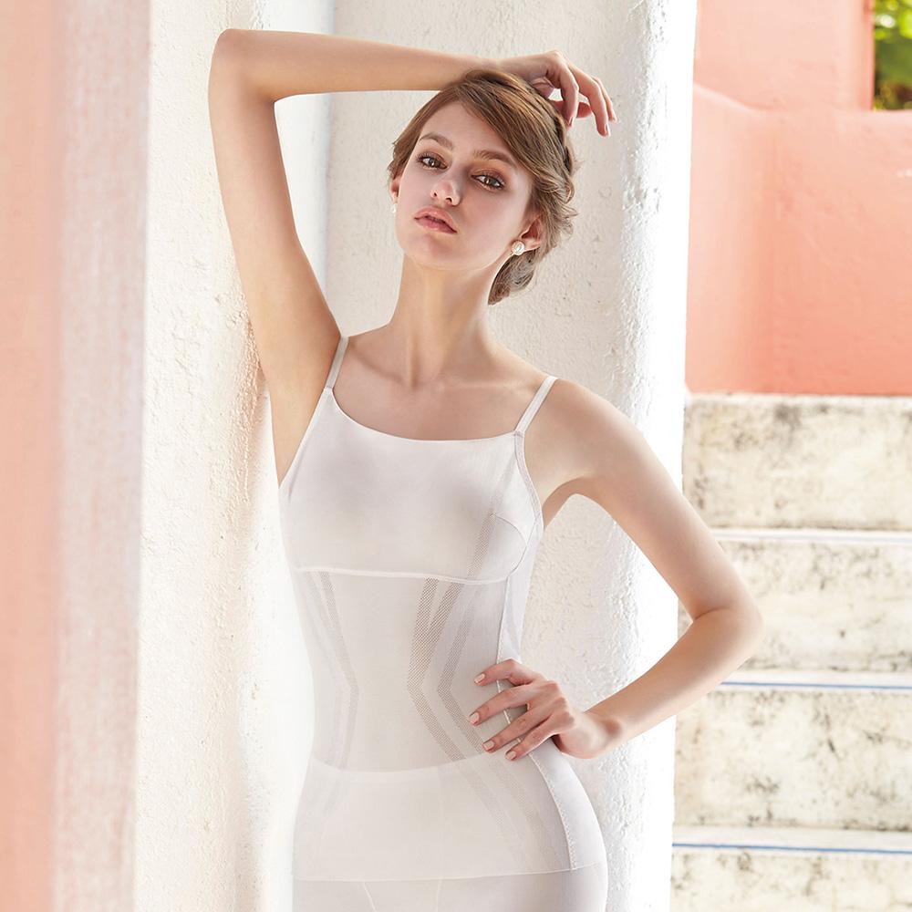 曼黛瑪璉-美型顯瘦 細肩帶平口小可愛S-XL(清透灰)