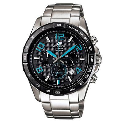 CASIO EDIFICE 豐彩魅力三眼賽車運動錶(藍)-42mm