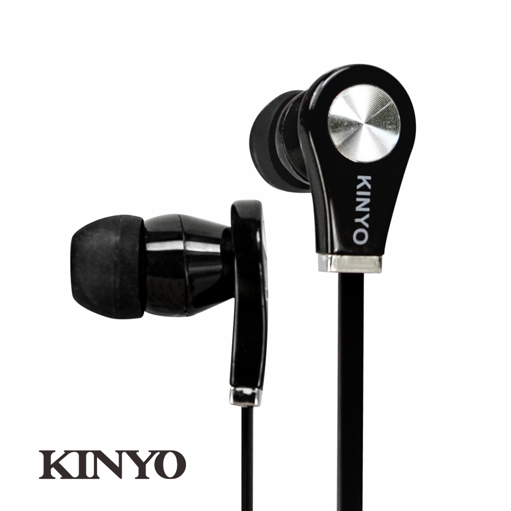 KINYO時尚造型耳機EMP50-爵士黑