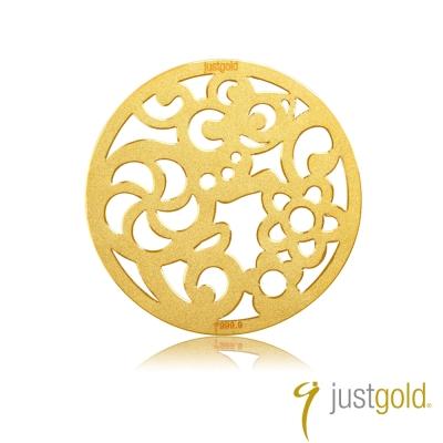 鎮金店Just Gold 金幣-花開富貴金幣(鼠)