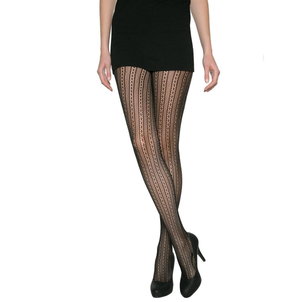 法國DIM-MOD「時尚」系列直條網狀花紋造型褲襪-012M 黑