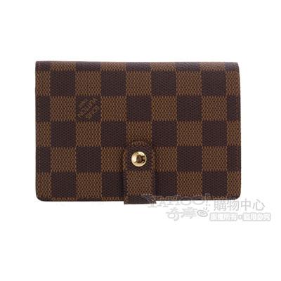 LV-N61674-棋盤格扣式短夾