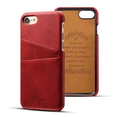 APPLE iPhone8/iPhone7 小牛紋夾層保護皮套/手機殼(紅)