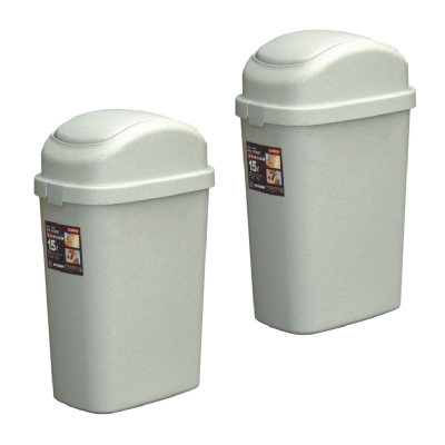 15L大簡約垃圾桶(二入)組