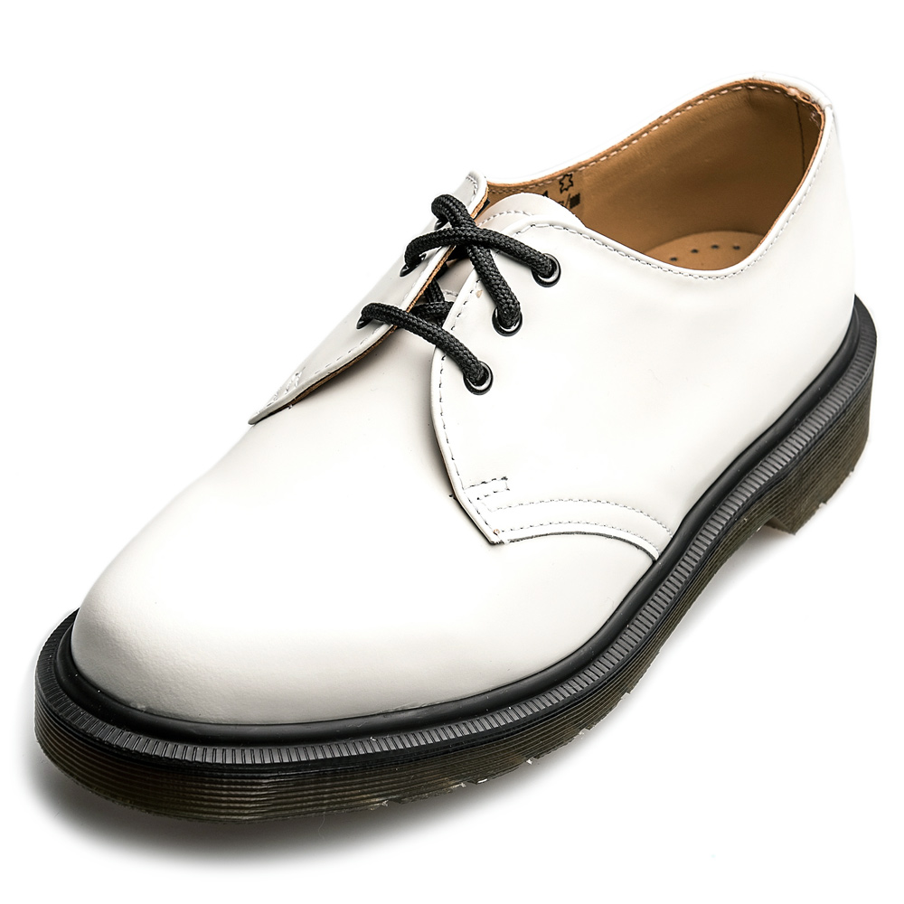 Dr.Martens-經典1461PW3孔馬汀鞋-男款-白色